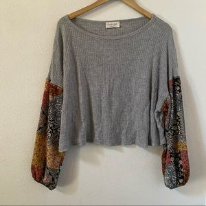 Cute soft long sleeved crop top size small